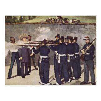 Carte Postale Exécution d'empereur Maximilian du Mexique - le