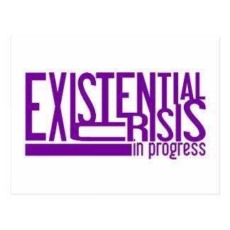 Carte postale existentielle de crise