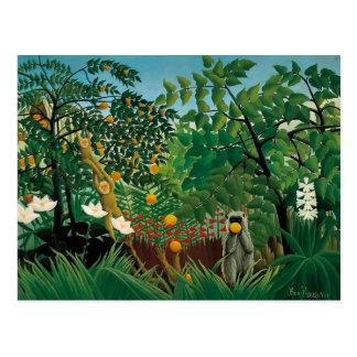 Carte postale exotique de paysage de Henri Roussea
