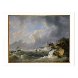 Carte Postale Expédition outre d'un littoral en mer agitée