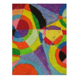 Carte Postale Explosion de couleur par Robert Delaunay