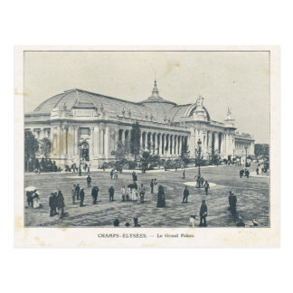 Carte Postale Expo 1900, champions Elysees Palais grand de Paris