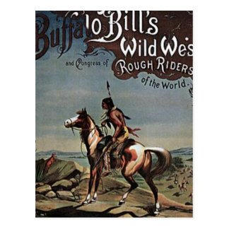 Carte Postale Exposition occidentale sauvage de Buffalo Bills