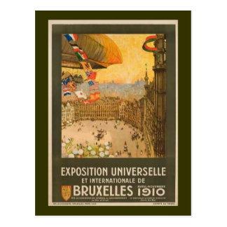 Carte Postale Exposition vintage de Bruxelles