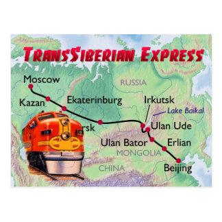 Carte Postale Express transsibérien