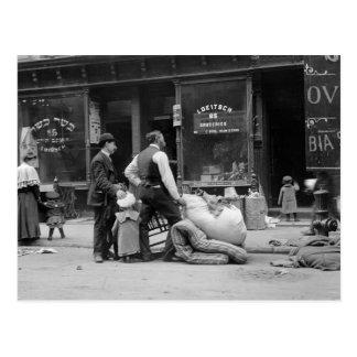 Carte Postale Expulsion de côté est, NYC, les années 1900 tôt