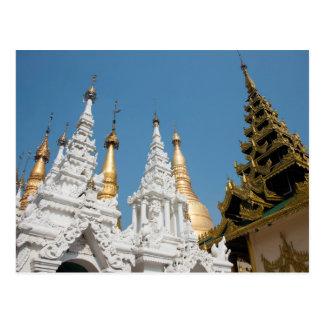 Carte Postale Extérieur de pagoda de Shwedagon