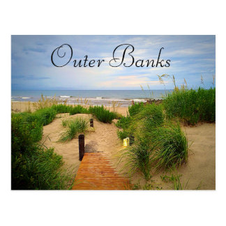 Carte postale externe de dunes de banques