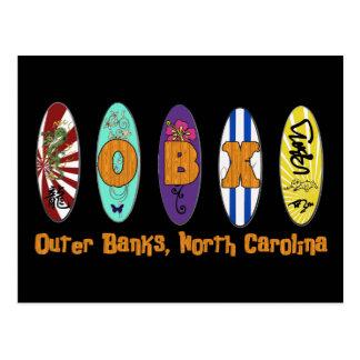 Carte postale externe de surf de banques d'OBX
