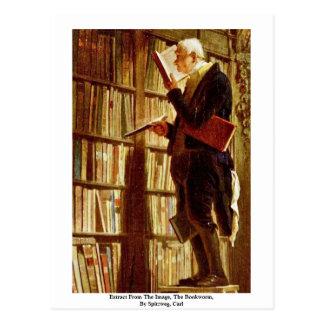 Carte Postale Extrait de l'image, le rat de bibliothèque