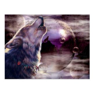 Carte postale extraordinaire de chanson de loup