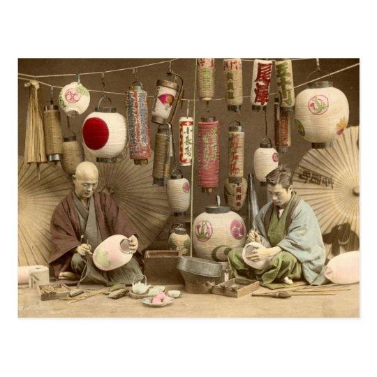 carte postale fabricants japonais de lampion photo vintage. Black Bedroom Furniture Sets. Home Design Ideas