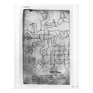 Carte Postale Fac-similez la copie de Mme Fr Studies des hommes
