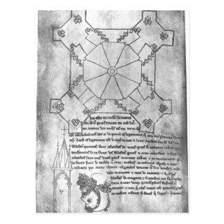 Carte Postale Fac-similez la copie d'un plan de la tour