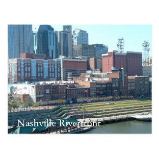Carte Postale Façade d'une rivière de Nashville, façade d'une