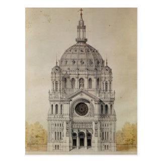 Carte Postale Façade occidentale de l'église de St Augustin