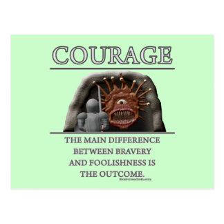 Carte Postale Facteur de stimulation de l'imaginaire de courage