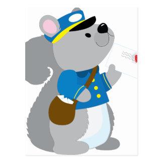 Carte Postale Facteur d'écureuil