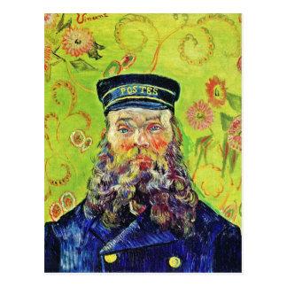 Carte Postale Facteur Joseph Roulin Vincent van Gogh de portrait
