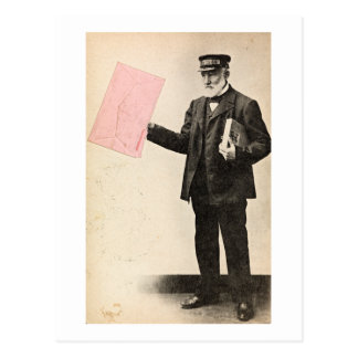 Carte Postale Facteur romantique vintage