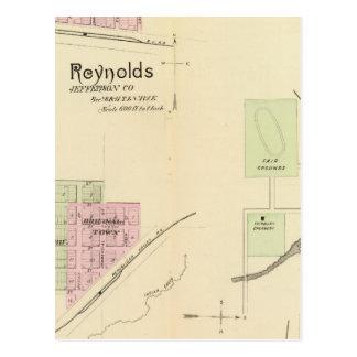 Carte Postale Fairbury et ville de Steele, Nébraska
