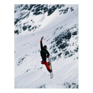Carte Postale Faire du surf des neiges