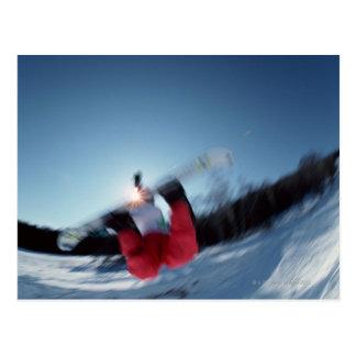 Carte Postale Faire du surf des neiges 12