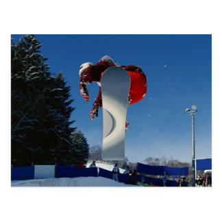 Carte Postale Faire du surf des neiges 5