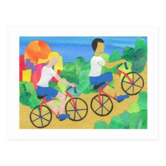 Carte Postale Faire du vélo dans le Central Park