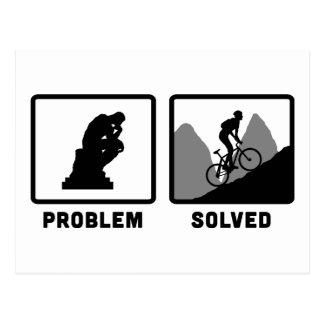 Carte Postale Faire du vélo de montagne