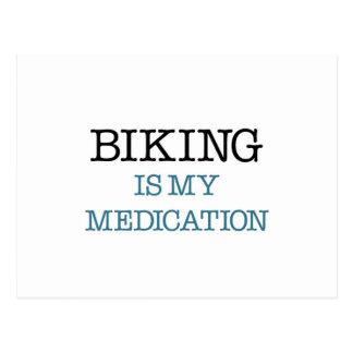 Carte Postale Faire du vélo est mon médicament