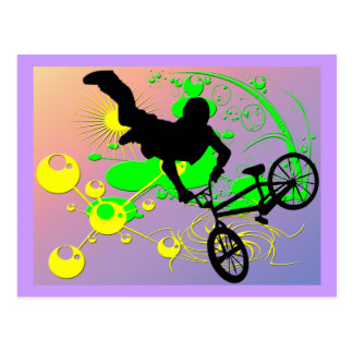 Carte Postale Faire du vélo extrême