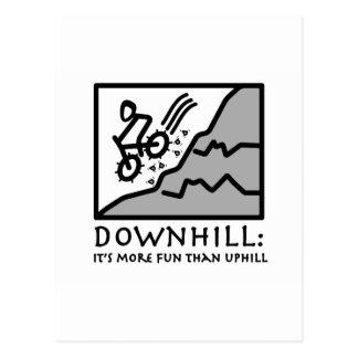 Carte Postale Faire du vélo incliné de montagne de frisson