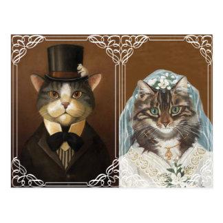 Carte Postale Faire-part de mariage drôle et mignon