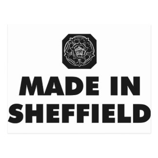 Carte Postale Fait à Sheffield