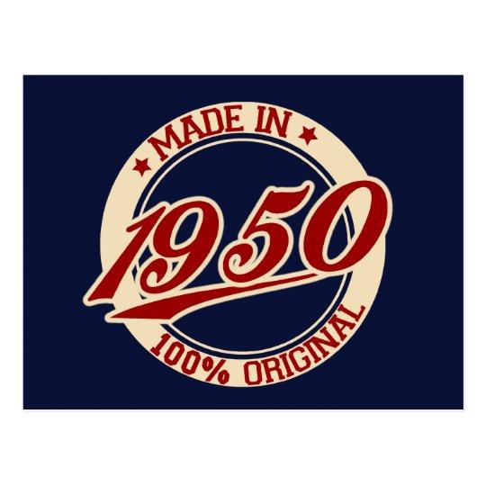 Carte Postale Fait En 1950 | Zazzle.fr