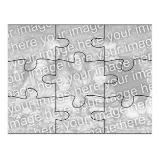 Carte postale faite sur commande de puzzle de