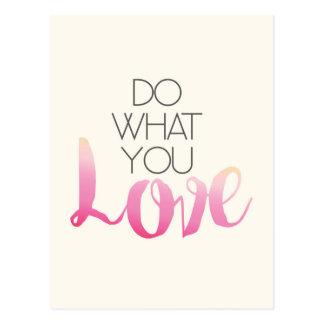 Carte Postale Faites ce qui vous amour 2