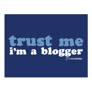 Carte Postale Faites- confiancemoi, je suis un Blogger