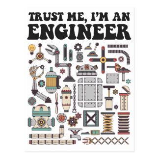 Carte Postale Faites- confiancemoi, je suis un ingénieur