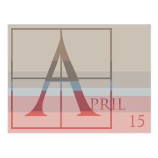 Carte Postale Faites gagner la date avec avril très