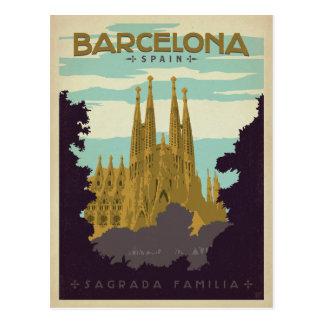 Carte Postale Faites gagner la date | Barcelone, Espagne Sagrada