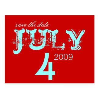 Carte Postale Faites gagner la date - juillet - customisée