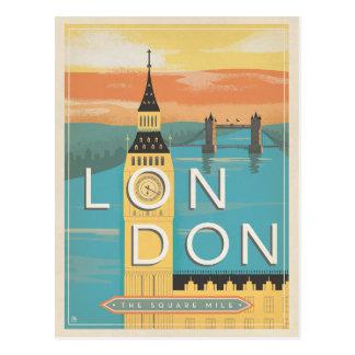 Carte Postale Faites gagner la date | Londres - le mille carré