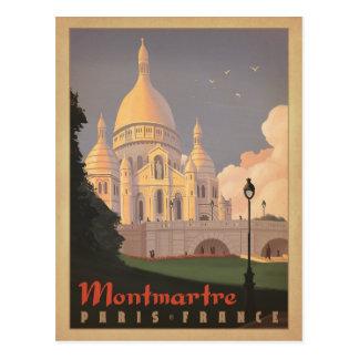 Carte Postale Faites gagner la date | Montmartre - Paris, France