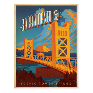 Carte Postale Faites gagner la date | Sacramento, CA