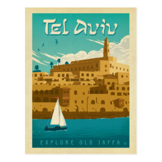 Carte Postale Faites gagner la date | Tel Aviv, Israël