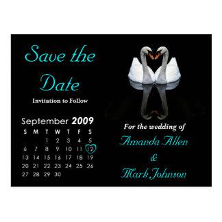 Carte Postale Faites gagner septembre 2009 la date, épousant le