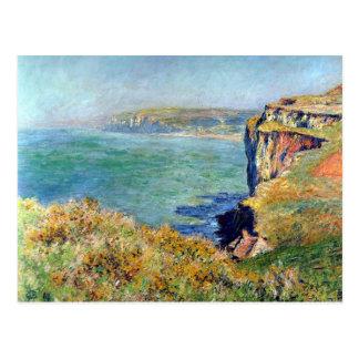 Carte Postale Falaise chez Grainval par Claude Monet