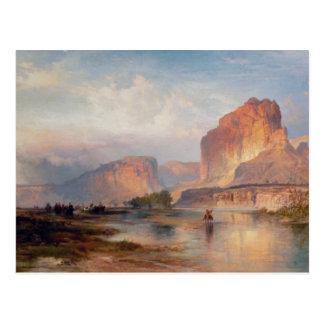 Carte Postale Falaises de la rivière Green - 1874
